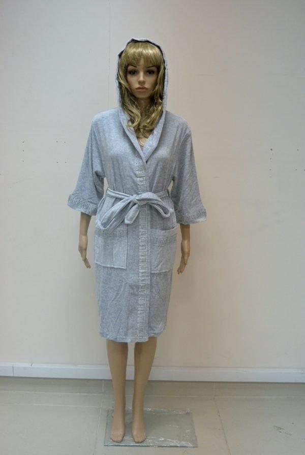 Женский халат Nusa ns 8295 серый m008693 S (m008693) Серый