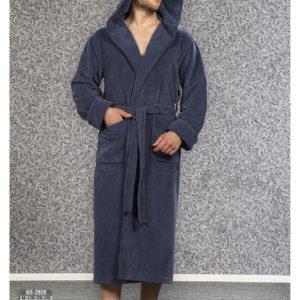 Мужской халат Nusa ns 2805 серый m012284