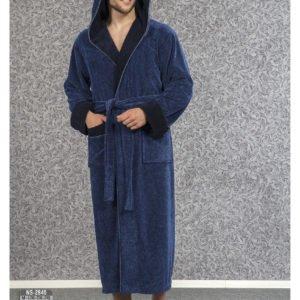 Мужской халат Nusa ns 2845 синий m012282