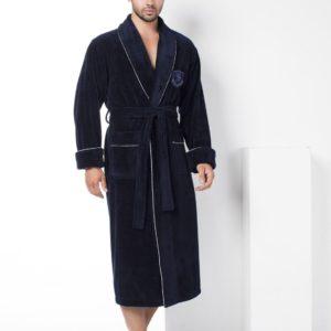 Мужской халат Nusa ns 2940 синий m013610
