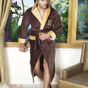 Мужской халат Nusa ns 7160  коричневый m003406