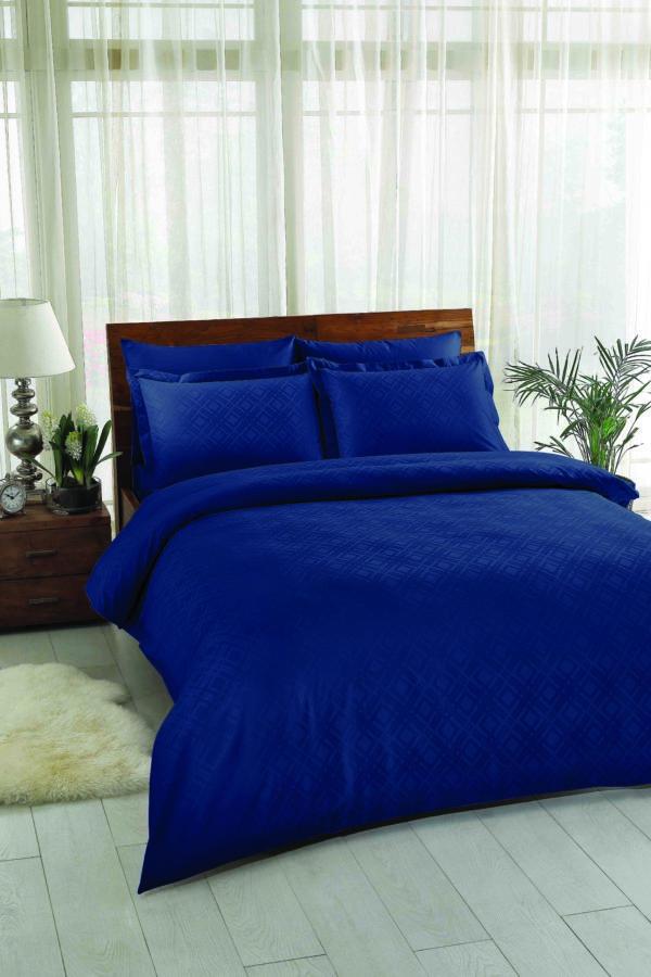 Купить Постельное белье TAC жаккард - Vision lacivert 200x220 (sv-2000022182362) Синий