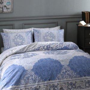 Купить Постельное белье TAC ранфорс - Aryan mavi v01 160x220 (2 шт) (sv-2000022175050) Голубой