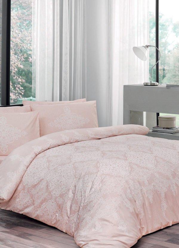 Купить Постельное белье TAC ранфорс - Blanche pudra v53 160x220 (2 шт) (sv-2000022175012) Розовый