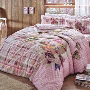 Купить Постельное белье TAC ранфорс - Livia pembe v01 200x220 (sv-8696048546741) Розовый