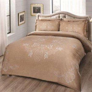 Постельное белье TAC сатин Delux — Lumina gold 200×220