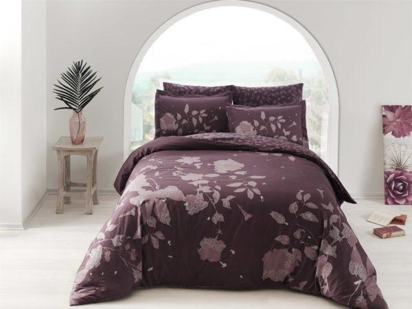 Купить Постельное белье TAC сатин Delux - Sherly murdum v4 200x220 (sv-2000022183079) Фиолетовый