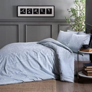 Купить Постельное белье TAC сатин - Fabian mint v53  (sv-2000022175173-v) Серый