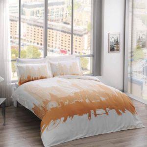 Купить Постельное белье TAC сатин Glow - London gold 200x220 (sv-2000022182997) Оранжевый