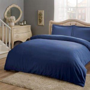 Купить Постельное белье TAC Basic - Saks 200x220 (sv-2000022178204) Синий