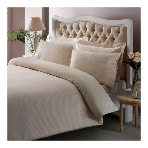 Купить Постельное белье TAC Premium Basic - Stripe krem 200x220 (sv-2000022086219) Кремовый