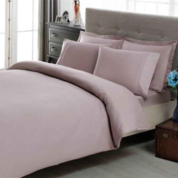 Купить Постельное белье TAC Premium Basic - Stripe lila 200x220 (sv-2000022086202) Лиловый