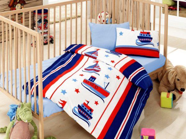 Детское постельное белье Cotton Box Denizci Mavi 100x150 (CB08007743) Синий фото