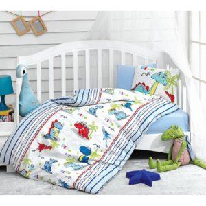 Детское постельное белье Cotton Box Dino Mavi 100x150 (CB08007756) Голубой фото