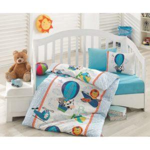 Детское постельное белье Cotton Box Ucan Dostlar Mavi 100×150