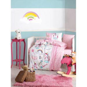 Детское постельное белье Cotton Box Unicorn Pembe 100x150 (CB08007797) Розовый фото