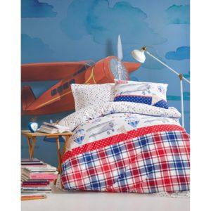 Подростковое постельное белье Cotton Box Air Balloon Kirmizi 160×220