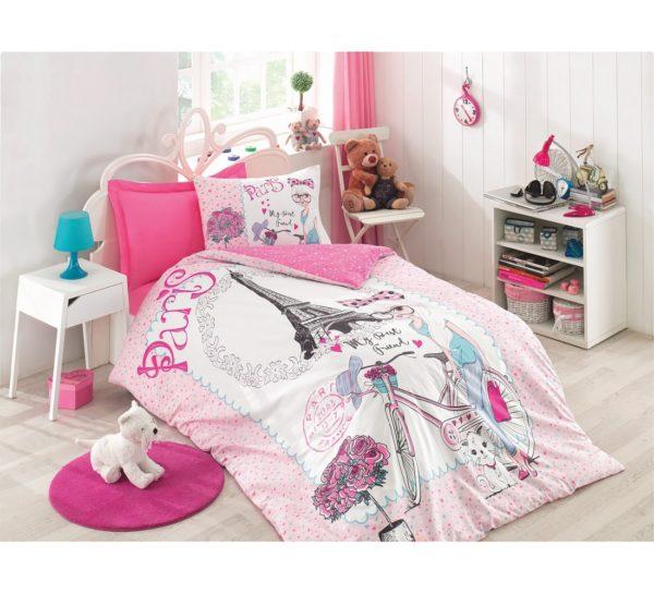 Подростковое постельное белье Cotton Box Best Friend Pembe 160x220 (CB08007749) Розовый фото