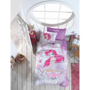 Подростковое постельное белье Cotton Box Fairy Lila 160×220