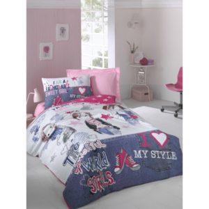 Подростковое постельное белье Cotton Box Fashiongirls Fusya 160×220