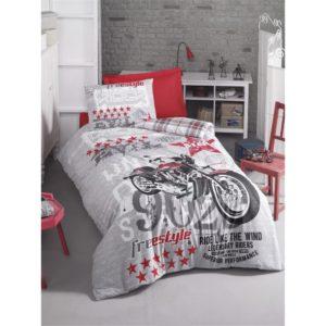 Подростковое постельное белье Cotton Box Freestyle Gri 160×220