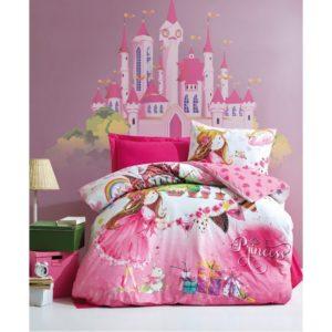 Подростковое постельное белье Cotton Box Princess Pembe 160x220 (CB08007785) Розовый фото