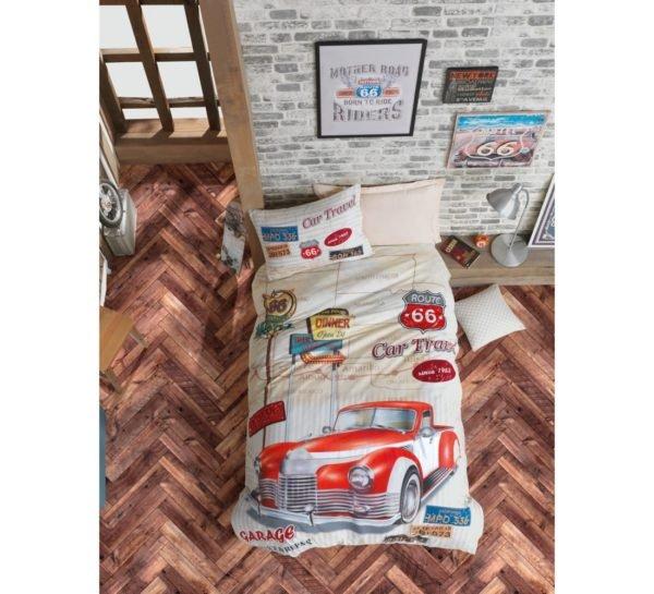 Подростковое постельное белье Cotton Box Route Bej 160x220 (CB08007794) Бежевый фото