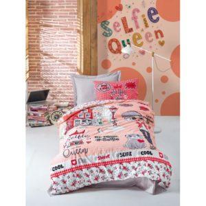 Подростковое постельное белье Cotton Box Selfie Kirmizi 160x220 (CB08007792) Красный фото