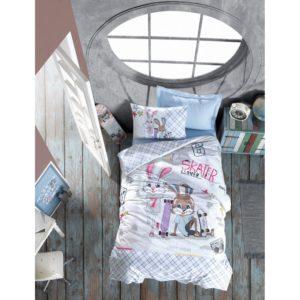 Подростковое постельное белье Cotton Box Skate Mavi 160×220