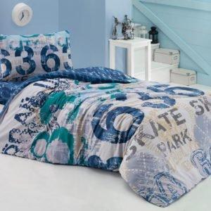 Подростковое постельное белье Cotton Box Urban Lacivert 160×220