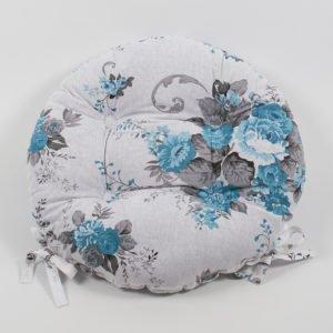 Подушка на стул Lotus круглая  Doris 40 см. диаметр (sv-2000022191135) Бирюзовый фото