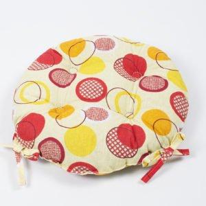 Подушка на стул Lotus круглая  Erin с завязками 40 см. диаметр (sv-2000022188661) Желтый фото