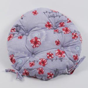 Подушка на стул Lotus круглая  Osaka красный 40 см. диаметр