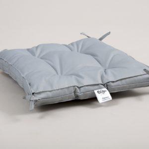 Подушка на стул Lotus Optima с завязками серый 40×40+5
