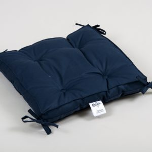 Подушка на стул Lotus Optima с завязками синий 40×40+5