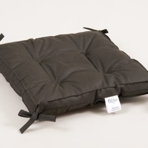 Подушка на стул Lotus Optima с завязками хаки 40x40+5 (sv-2000022086189) Серый фото