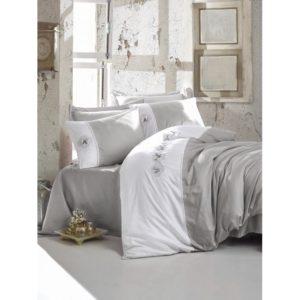 Постельное белье С Вышивкой 3d Cotton Box Dare Gri 200×220