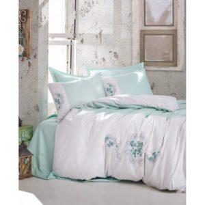 Постельное белье С Вышивкой 3d Cotton Box Lena Mint 200×220