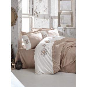 Постельное белье С Вышивкой 3d Cotton Box Mira Bej 200×220