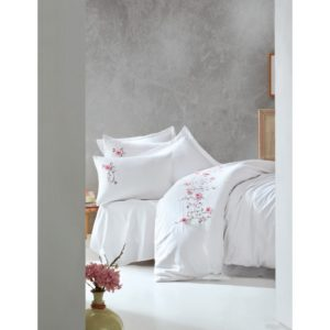 Постельное белье С Вышивкой 3d Cotton Box Perla Beyaz 200×220