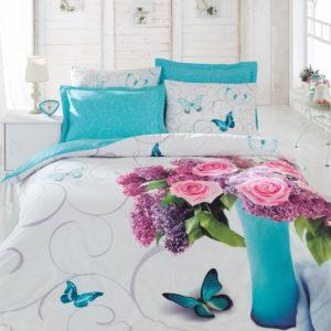 Постельное белье 3D Cotton Box Meri Turkuaz 200×220