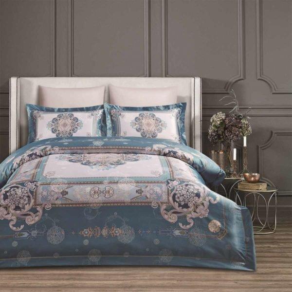 Постельное белье Arya Glamor Valeria 200x220 (TR1004147) Голубой фото