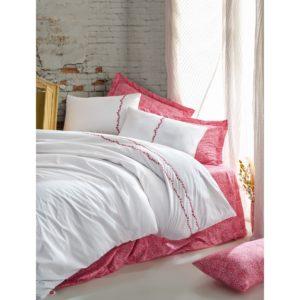 Постельное белье Cotton Box Coco Mercan 200x220 (CB010077518) Белый|Красный фото