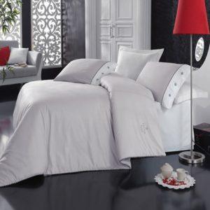 Постельное белье Cotton Box Gri grey 200×220