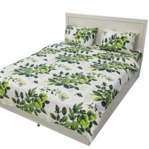Постельное белье Rigel Ранфорс Зеленые Листья 200×220