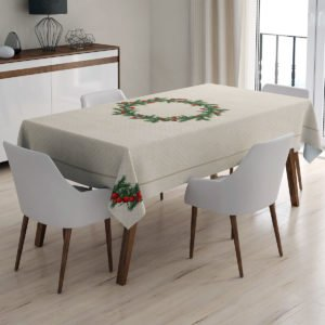 Скатерть праздничная Arya Christmas Pine 150x220 (TR1005413) Кремовый фото