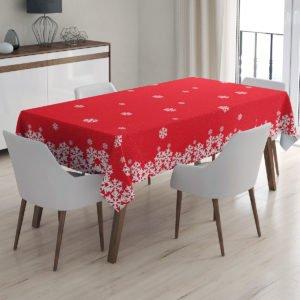 Скатерть праздничная Arya Christmas Snowy 150x220 (TR1005415) Красный фото