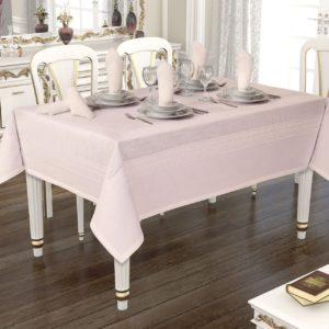 Скатерть Jackline Rose 9886-6 160x220 (CB14003367) Розовый фото