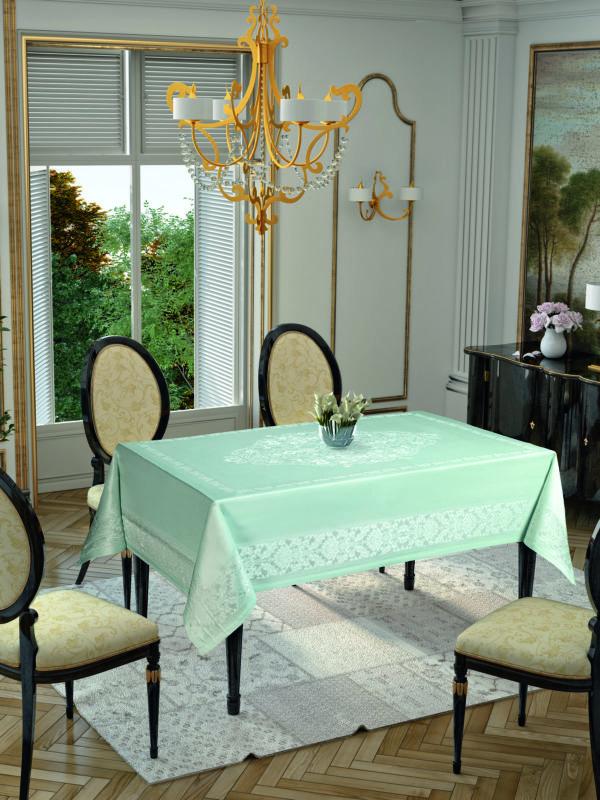 Скатерть Tropik Home Damask Mint 9956-9 150x220 (CB14003359) Зеленый фото