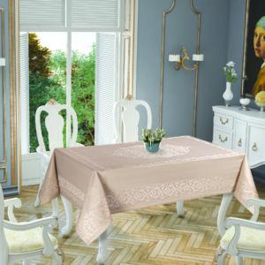 Скатерть Tropik Home Paisley Cappucino 5701-2 150x220 (CB14003362) Коричневый фото